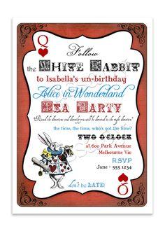 Alice in Wonderland Invitation | Sassaby