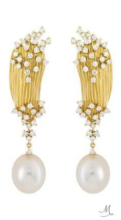 Hueb Plisse Earrings
