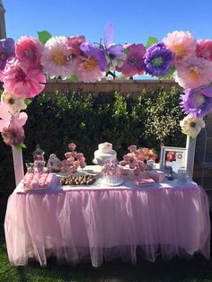 Beautiful decoration for your baby party with your budget 𝑫.𝑮 𝑭𝑶𝑹 𝑾𝑬𝑫𝑫𝑰𝑵𝑮 𝑷𝑳𝑨𝑵𝑵𝑬𝑹 & 𝑬𝑽𝑬𝑵𝑻𝑺  1st Birthday Party For Girls, Tea Party Birthday, Baby Birthday, Birthday Party Decorations, Baby Shower Decorations, Spring Birthday Party Ideas, Butterfly Garden Party, Butterfly Birthday Party, Butterfly Baby Shower