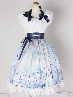 Blue Classic Lolita Dress with Ribbon