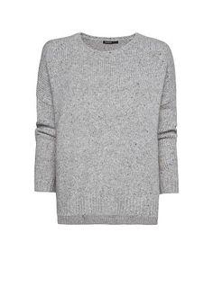 Fave sweater.   MANGO - Flecked oversize jumper