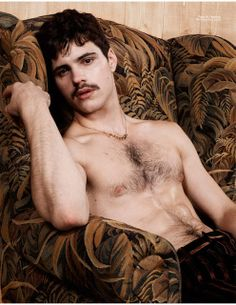 THE BRUNETTES: Manly Movember Editorials: Matthieu Charneau Poses for Yearbook Fanzine