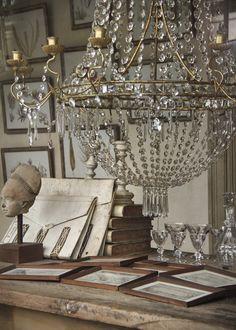 Antique chandelier in Paris shop window Antique Chandelier, Chandeliers, Chandelier Lighting, French Chandelier, Antique Lighting, French Interior, French Decor, Chandelier In Living Room, Ivy House