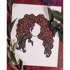 """""""our fate lives within us... you only need to be brave enough to see it. """" - Merida, who is your favorite princess? (photo by @chelseylynnphoto) #merida #brave #zentangle #zenspire #blynndesigns"""
