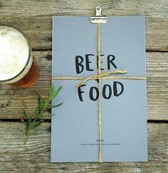 2014 BEER/FOOD Calendar auf Etsy, 19,36 €