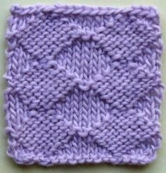 Plain Diamonds Knitting Stitch Pattern