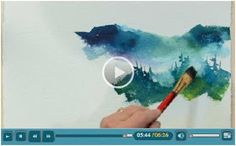 Jerry's Atrarama lets you enjoy more than 120 free watercolor how-to video demonstrations by talented watercolor artists. Beginner or advanced, you'll find helpful advice and techniques for your watercolor portraits, landscapes, seascapes and more. (Photo: Soft and Hard Edges in a Landscape Video by Tom Jones )