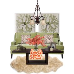Green Living Room - Polyvore