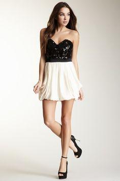 Bardot & Jarlo  Bardot Sequin Bubble Dress