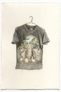 if you have an unwearable  concert t-shirt you can't bear to toss, now you can immortalize it through a custom watercolor illustration. genius! (and works for any favorite piece of clothing)