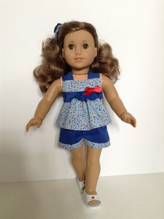 American Girl 18inch Doll Clothes Ruffled Top by HFDollBoutique, $17.00