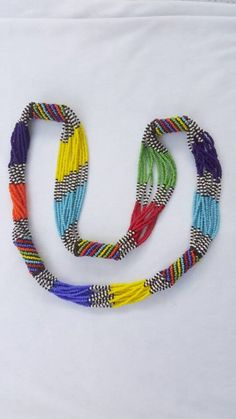 Excited to share the latest addition to my shop: Multi-strands Zulu beaded… Excited to share the latest addition to my shop: Multi-strands Zulu beaded necklace. Zulu, Ruby Necklace, Tassel Necklace, Necklace Ideas, Necklace Tutorial, Pendant Necklace, Bead Jewellery, Beaded Jewelry, Beaded Necklaces
