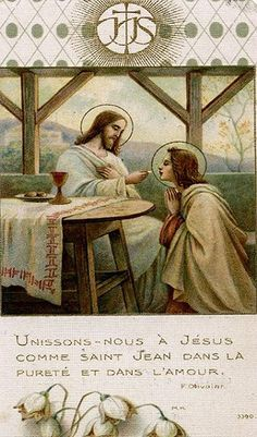 Let us go to Jesus with Saint John, in purity and in love.