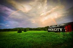 See Rock City Barn, with the beauty of a Rainbow in the sky!