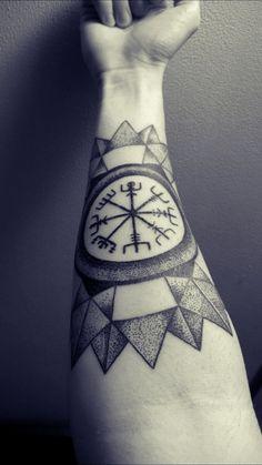 My tattoo : Vegvisir with mandala inspired design