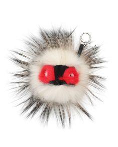 Fur Monster Charm for Handbag, White/Red by Fendi at Neiman Marcus.