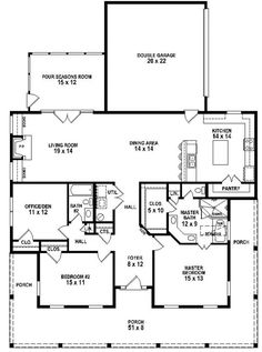 #653881 - 3 Bedroom 2 Bath Southern Style House Plan with wrap around porch : House Plans, Floor Plans, Home Plans, Plan It at HousePlanIt.com
