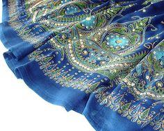 Boho Gypsy Skirt: Long Cobalt Blue Indian Bollywood von DelhiDaze