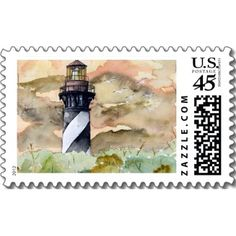 st augustine lighthouse painting postage stamps