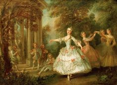 Marie Salle ballet dancer and innovator, 1732 by Nicolas Lancret (Chateau Rheinsberg)-Chapter 7 Rococo Painting, Ballet Painting, Memento Mori, High Society, Old Paintings, Painted Cottage, Ballet Dancers, Pictures To Paint, Outdoor Travel