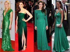 Pretty ladies in green