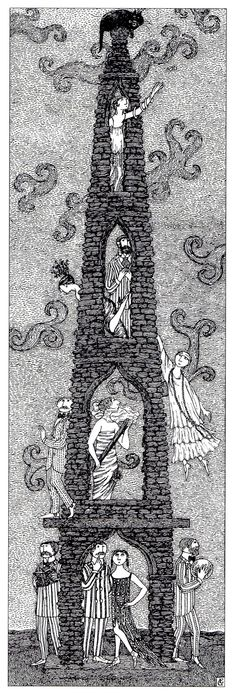 We own this signed print! It hangs in our living room.--Edward Gorey
