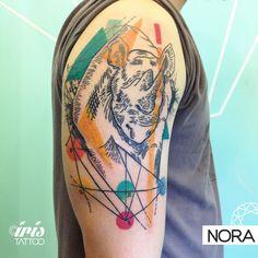 Rinoceronte #rhinotattoo #rhino #geometry #armtattoo #tatuaje #rinoceronte #tattoos #iristattoo #palermo #buenosaires #argentina