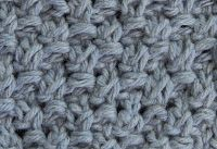 Blanket Moss Stitch.  Cast on any multiple of 2+1. Row 1: (RS) Knit into the front and back of each stitch  Row 2: K2tog * P2tog, K2tog*. Row 3: Knit into the front and back of each stitch. Row 4: P2tog *K2tog, P2tog*.   Repeat these four rows for the pattern.