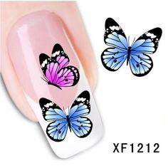 0.10$ (Buy here: http://alipromo.com/redirect/product/olggsvsyvirrjo72hvdqvl2ak2td7iz7/32341025221/en ) YZWLE Fashion Cute DIY Watermark Butterflies Tip Nail Art, Nail Sticker & Decal Manicure Nail Tools for just 0.10$