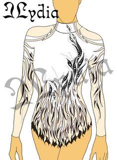Competition Rhythmic gymnastic leotards Design - White Swan