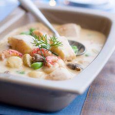 Blanquette aux poissons et fruits de mer