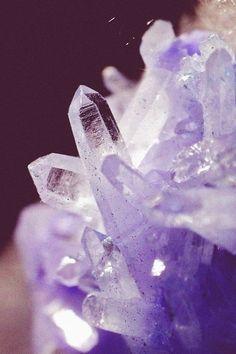 Crystals. Purple.