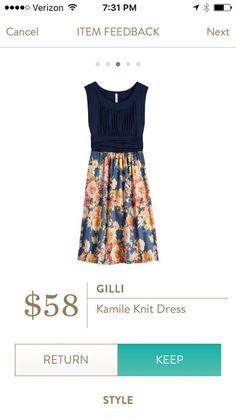 Dear Stitch Fix Stylist: Here's another floral print dress that I love! This would be perfect for so many occasions-- please send it to me! --xoxo, Sarah