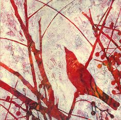 Songbird #1: Karyn Fendley              acrylic and mixed media on linen