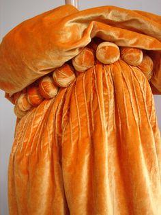 early 1900 velvet cape - orange