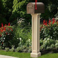 highwood hazleton mailbox post white beyi