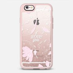 I Love You - New Standard Case in Pink Gray and Clear by Kciafa | @casetify