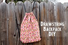 Got to make some. Hobby lobby has cute duck fabrics for these. punk projects: Drawstring Backpack DIY