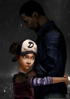 Clementine hugged Lee  I love this pic sooo much! 😭💜