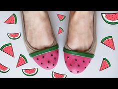 DIY: Bailarinas con sabor a verano /  Watermelon shoes