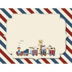 Fundo infantil customizável para o anúncio do chá de fraldas ou festa de aniversário