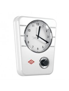 Wesco Kitchen Clock Classic Line - White - Wesco - Brands | Homeware Boutique look great in kitchens with white appliances