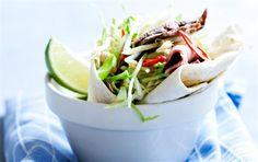 Thai-salatwraps med roastbeef og spidskål