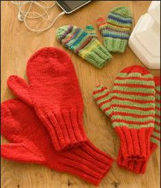 Tricots et crochet : moufles et mitaines