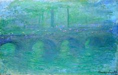 Claude Monet (París, 1840 - Giverny, 1926) El puente de Waterloo, Londres, al atardecer (1904)