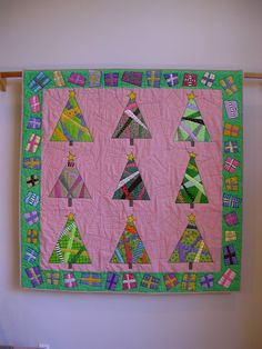 And Presents 'Round the Tree wall quilt by tinacurran on Etsy, $2025.00