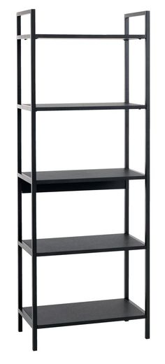 Wandrek TISTRUP zwart | JYSK Black Shelves, Shop Storage, Dream Apartment, Particle Board, Own Home, Shelving, Cool Things To Buy, Bookcase, The Unit