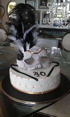 Masquerade Cake 50th Birthday Celebration Ideas, 40th Birthday Themes, 40th Party Ideas, 60th Birthday Cakes, Birthday Ideas, Masquerade Party Themes, Masquerade Cakes, Burlesque Cake, Cake Craft