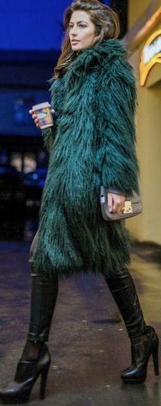 Katu Mikheicheva I Emerald Faux Fur Coat #katu