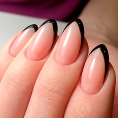 cute french nails Tips - DIY French Nail Tips At Home cute french nails Tips - DIY French Nail Tips At Home - Black French Manicure, French Manicure Nails, French Tip Nails, Manicure Ideas, Colorful French Manicure, Black Nail Tips, French Tips, Pedicure, Nail Designs Pictures